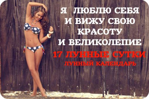 АФФИРМАЦИИ В 17 ЛУННЫЙ ДЕНЬ