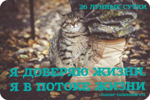 АФФИРМАЦИИ В 26 ЛУННЫЙ ДЕНЬ